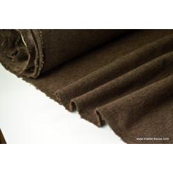 Tissu Maille tricoter chocolat polyester elasthanne .x1m