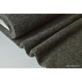 Lainage boucle taupe laine et alpaga x50cm