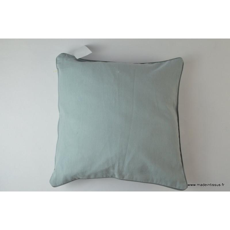 Housse pour coussin 40x40 polyester lin coloris