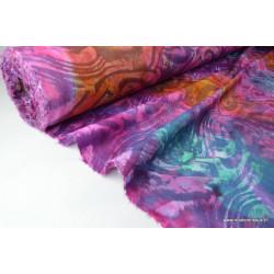 Tissu Coton imprimé batik étanche ENDUIT ACRYLIQUE 2 COUCHES .