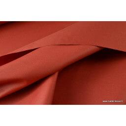 Tissu gabardine imperméable polyester coton tomette x50cm