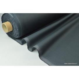 Tissu gabardine imperméable polyester coton anthracite x50cm