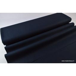 Tissu Lin lavé marine pour confection x50cm