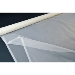 Organza  ivoire 100% polyester 300cm x50cm