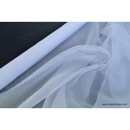 Organza polyester blanc robe de mariée