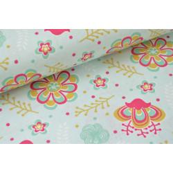 Tissu coton imprimé dessin izia .x1m