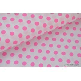 Popeline coton imprimé gros pois par 50cm