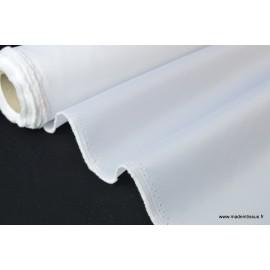 Tissu Doublure blanche 100% polyester .x1m