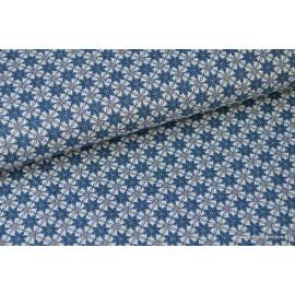 Popeline coton anis étoilé x50cm