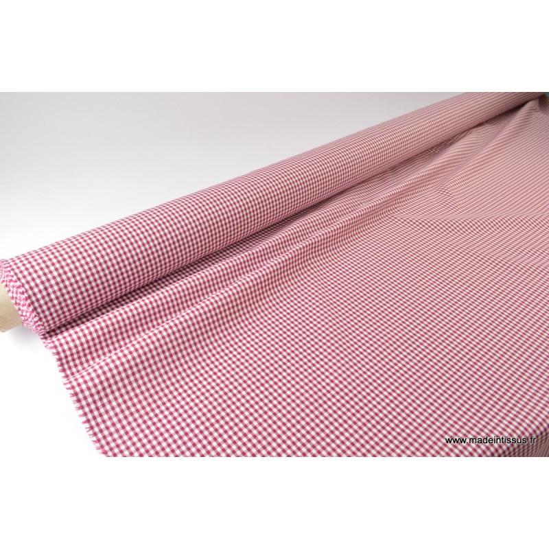 tissu vichy polyester coton bordeaux et blanc. Black Bedroom Furniture Sets. Home Design Ideas