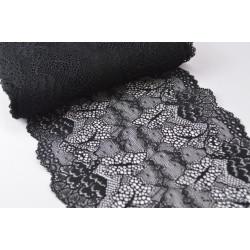 Tissu Galon dentelle noir robe de mariée 17cm .