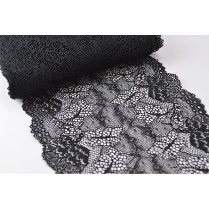 Galon dentelle noir robe de mariée 17cm
