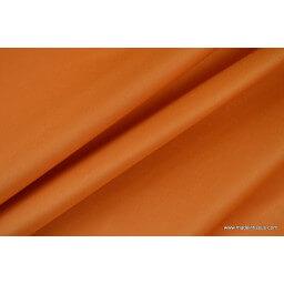 Tissu imperméable étanche polyester enduit acrylique mandarine x50cm