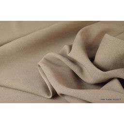CREPE robe de mariée taupe x50cm