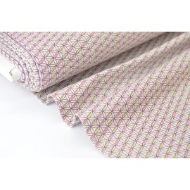 Jersey imprimé rosaces x50cm