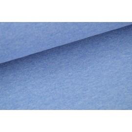 Tissu Jersey uni chiné bleu .x1m