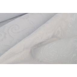Jacquard dessin cachemire blanc x50cm