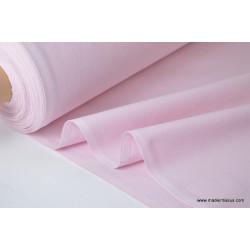 Tissu demi natté coton grande largeur rose . x 1m