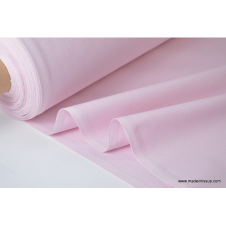 Tissu demi natté coton grande largeur rose