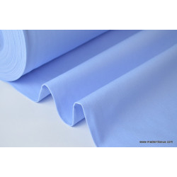 Tissu demi natté coton grande largeur bleu ciel . x 1m