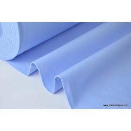 Tissu demi natté coton grande largeur bleu ciel
