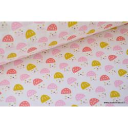 Tissu coton imprimé petits coquelicot .x1m