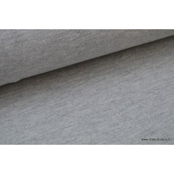 Jersey uni chiné gris .x1m