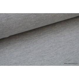 Tissu Jersey uni chiné gris .x1m