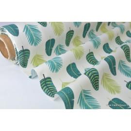 Tissu coton imprimé palmeraie .x1m