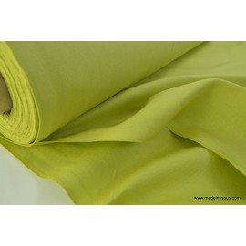 Tissu demi natté coton grande largeur anis . x 1m