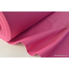 Tissu demi natté coton grande largeur fuchsia . x 1m