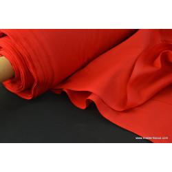 Toile à draps coton rouge .x 1m