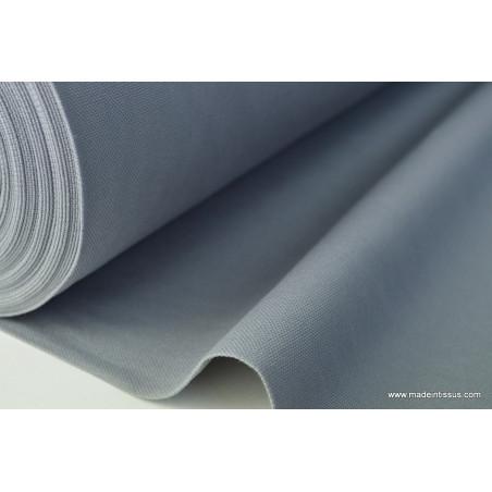 Tissu demi natté coton grande largeur gris . x 1m