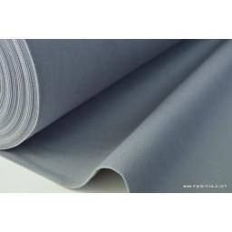 Tissu demi natté coton grande largeur gris