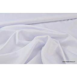 Tissu satin microfibre fluide uni blanc x50cm