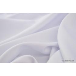 Tissu satin microfibre fluide uni blanc .x1m