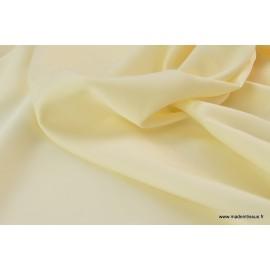 Tissu satin microfibre fluide uni ivoire .x1m