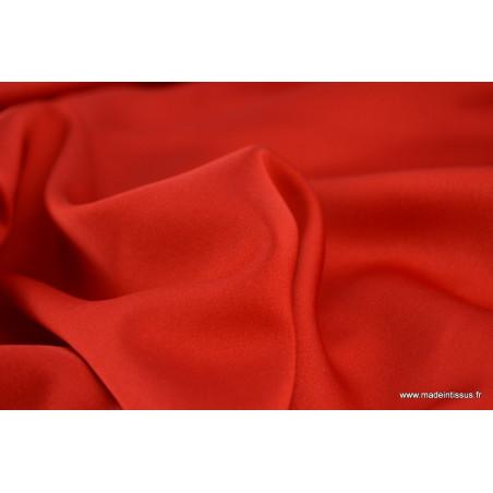 Tissu satin microfibre fluide uni rouge .x1m