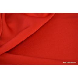 Tissu satin microfibre fluide uni rouge x50cm