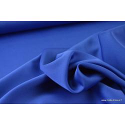 Tissu satin microfibre fluide uni bleu royal .x1m