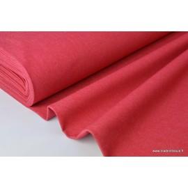 Tissu Toile jean stretch coloris rouge .x1m