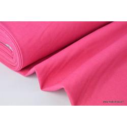 Tissu Toile jean stretch coloris rose .x1m