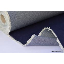 Tissu denim jean bleu foncé .x1m