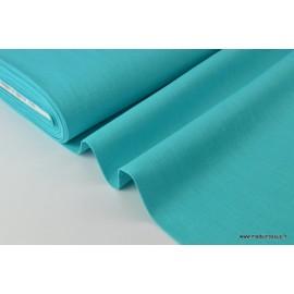 Tissu Lin lavé turquoise pour confection x50cm