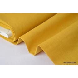 Tissu Lin  moutarde .x1m