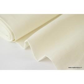 Tissu Lin lavé ivoire x50cm