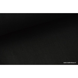 Tissu Lin lavé noir x50cm