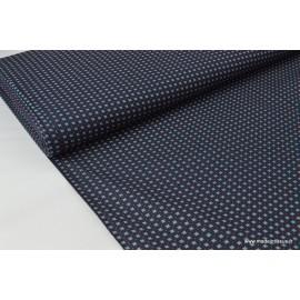 Popeline coton élasthanne petit point x50cm