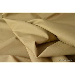 Tissu gabardine imperméable polyester coton sable x50cm