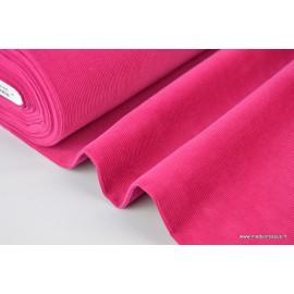 Tissu velours côtelé coton fuchsia x50cm